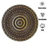 ZHOUAICHENG Vintage Druck runde Bereich Teppich marokko Mandala floral teppiche für Schlafzimmer Wohnzimmer kinderspielzimmer langlebigen Stoff,G,200CM