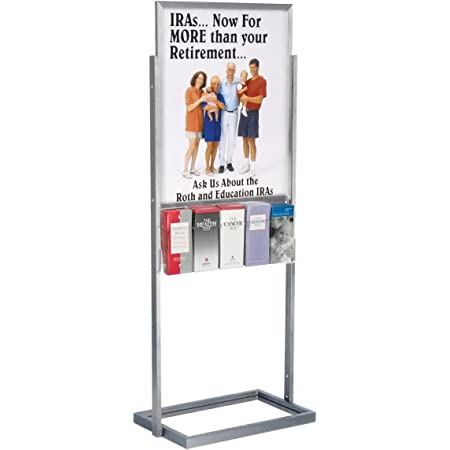GOTOTOP Brochure Foldable Stand A4 Portrait Floor Stand Floor Stand Booklet Portable Information