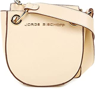 49e7d9347 Bolsa Couro Jorge Bischoff Mini Bag Transversal Argolas Feminina