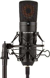 auna MIC-920B - USB condensatormicrofoon, cardioïde polair patroon, metalen behuizing, frequentiebereik: 30 Hz - 18 kHz, 2...