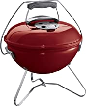 Weber 1123004 Smokey Joe Premium Charcoal Barbecue, 37 cm Diameter, Crimson Grill