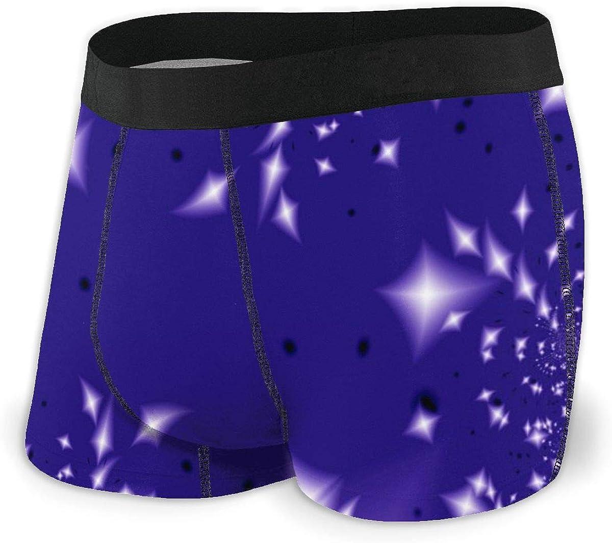 Mens Boxer Briefs Starlight Night Vector Breathable Underwear