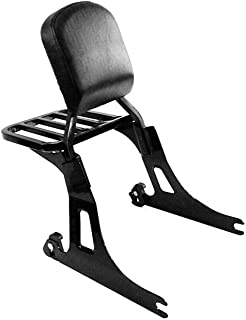 Detachable Gloss Black Passenger Sissy Bar Backrest with Luggage Rack Small Pad for Harley Davidson Dyna Like Street Bob Low Rider S Super Wide Glide 2006-2017 ref 52124-09A 53862-00 51851-09 51641-06