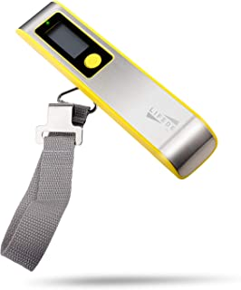 Lifede Digital Hanging Luggage Scale, ABS and Stainless Steel, Warning Lights,110 Pounds, Traveler,Yellow