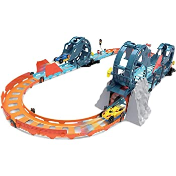Toyshine Electric Racetrack Car Set, Tumbling Racing Track with Light and Sound for Boys