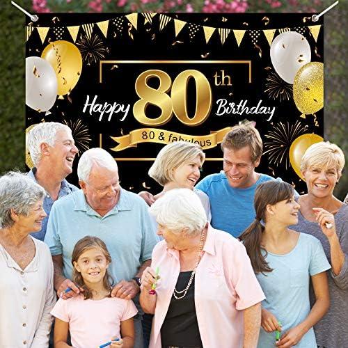 80th birthday background _image0