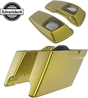 Advanblack Allungato Borse Fodere Fit per 2014 Allungato esteso Sacchetto Duro Sella in Pelle Sintetica Beige CVO Liner