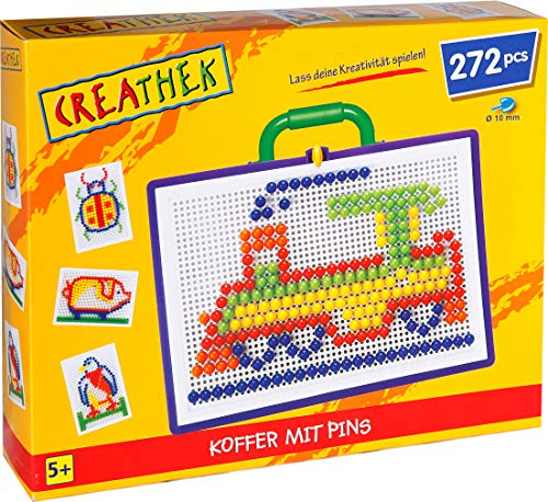 Steck-Mosaik-Koffer, 2-fach sortiert 150 oder 270-teilig