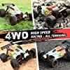 RC Car 1:18 Scale High Speed Remote Control Car, 2.4GHz Radio 25+ MPH 4WD All Terrain Off Road Rally Buggy Racing Cars Toys Gifts for Boys & Adults, with Two Rechargeable Batteries for 40+ Min Play #1