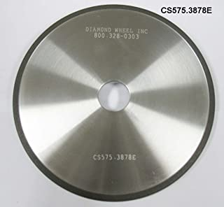"""Super Abrasive CBN 5-3/4"""" Chainsaw Wheels for 3/8 and .404 Steel Pitch Chains"""