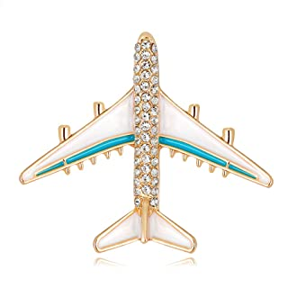 HittecH Plane Brooch Airplane Enamel Charms Jewelry Party Badge Banquet Scarf Pins Gifts