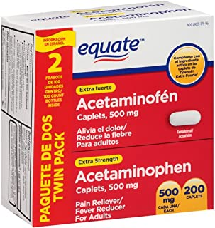 Equate - Acetaminophen 500 mg, 200 Caplets