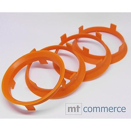 4er Set Felgen Zentrierringe Orange 60 1 Auf 58 1 Mm Alufelge Auto