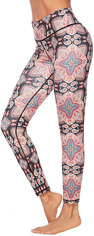 Yoga Workout Leggings Pants Women's Yoga Pants Digital Print Leggings Hip Sports Tight Pants Leggings Yoga Pants (Size   L)