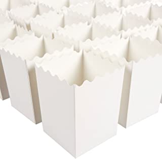 Cajas de palomitas de maíz (juego de 100) – Contenedores de palomitas de maíz de 16 oz – Ideal para fiestas, noches de cine, baby & Bridal duchas – (blanco) – 3 x 10 cm