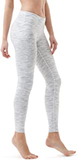 TSLA Yoga Pants Mid-Waist Leggings w Hidden Pocket FYP51/ FYP41 / FYP73, Womens, A-FYP51-SDW, Small