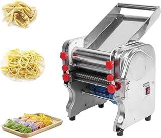 Machine à pâtes, machine à nouilles électrique en acier inoxydable adaptée à la cuisine à domicile, restaurant, hôtel EU 220V