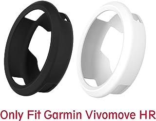 保護ケース, Lamshaw Garmin vivomove HR シリコン ケース カバー 保護ケース 対応 Garmin vivomove HR (ブラック+ホワイト)