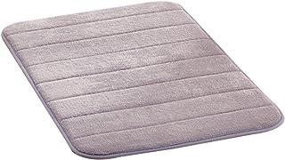 Non-Slip mat 11 Colors Microfibre Soft Rugs Home Shower Bath Pad Bathroom Bedroom Carpet Anti-Skid Rug Floor Mat Size: 40 ...