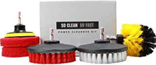 Power Scrubber Set: Drill Brush & Scrub Pad – Clean Hard Water & Soap Scum 5X Faster – for Tile, Grout, Rim, Corner, Floor, Carpet, Glass Doors, Fiberglass Tubs