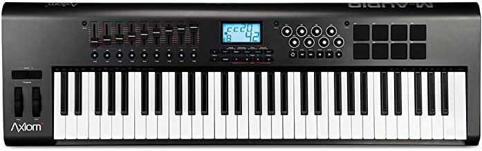 M-Audio Axiom 61 61-Key USB MIDI Keyboard Controller with Semi-Weighted Keys and Assignable Control Surface