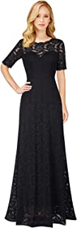 VFSHOW Womens Retro Floral Lace Formal Evening Wedding Party A-Line Maxi Long Dress