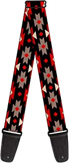 Buckle-Down Guitar Strap - Navajo Red/Black/Gray/Red - 2