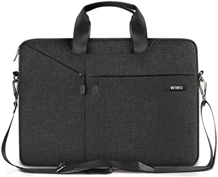 Wiwu Waterproof 15.6-inch Laptop Sleeve Nylon Fabric Padded Gent Brief CaseBag (Black)