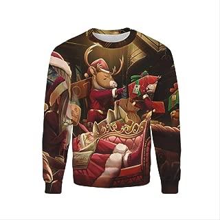 AHJSN Men Women S-4xl Santa Claus Christmas Novelty Ugly Christmas Sweater Snowman 3d Printing Hooded Sweater 4XL 7