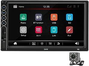 Ahomi SWM N6 2 DIN Reproductor estéreo de Coche MP5 Receptor de Radio USB Bluetooth de 7 Pulgadas (D)