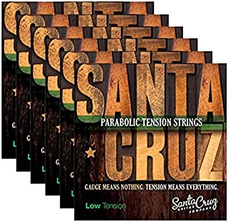 Santa Cruz Parabolic Tension Acoustic Guitar Strings Low Ten (6 Pack)