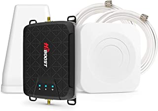 HiBoost 3-Band Cell Phone Signal Booster Up to 1,000 sq ft for Home & Office,Boosts Band 12/17/13/5, 3G 4G LTE Voice and D...