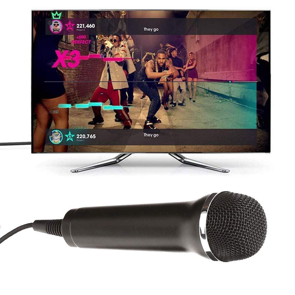 HOTSO 3M Micrófono USB Universal Compatible para PC, Nintendo Switch, Wii, PS2, PS3, PS4, Xbox , Xbox One, Karaoke Microfono para el Juego Guitar Hero, Rock Star, SingStar, La Voz, Lets Sing,