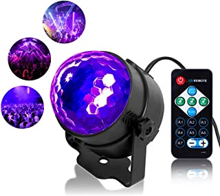 Litake UV Black Light 6W LED Disco Ball Party Lights Strobe Light Disco Lights, Sound Activated with Remote Control Dj Lig...