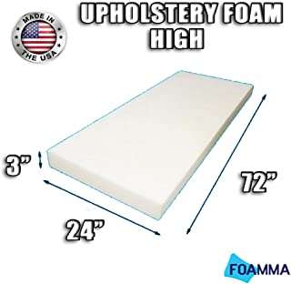 FOAMMA High Density Upholstery Foam Cushion (Seat Replacement , Upholstery Sheet , Foam Padding) Fast! Made in USA!! (3