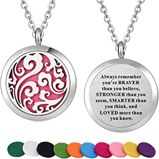 Stainless Steel Aroma Therapy Aromatherapy Essential Oil Diffuser Necklace Locket Pendant