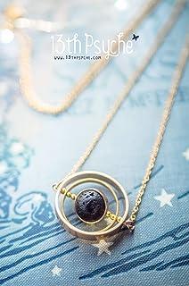 Collana di asteroidi, collana di meteoriti, gioiello di galaxy, collana girevole, pendente rotante, gioiello spaziale, col...