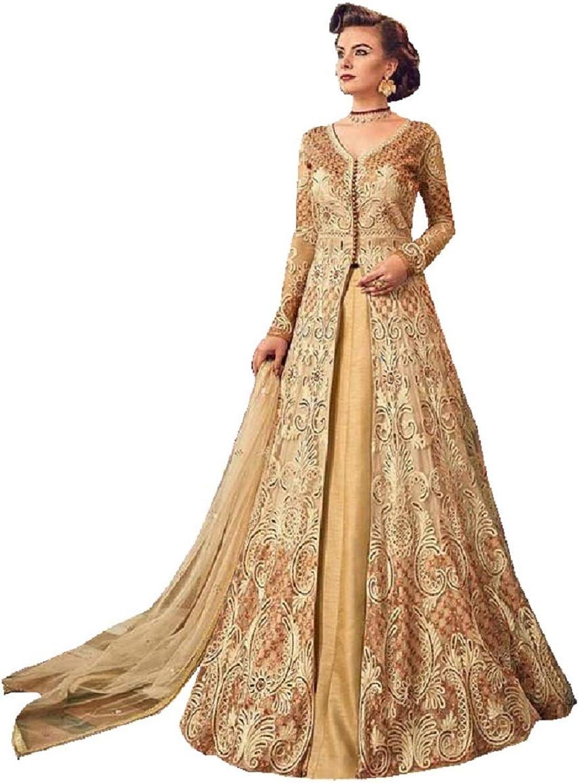 Delisa Women's Anarkali Salwar Kameez Designer Indian Dress Ethnic Party Embroidered Gown V 5810