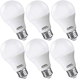A19 LED Light Bulbs 60 Watt Equivalent, SANSUN 3000K Soft White, Non-Dimmable