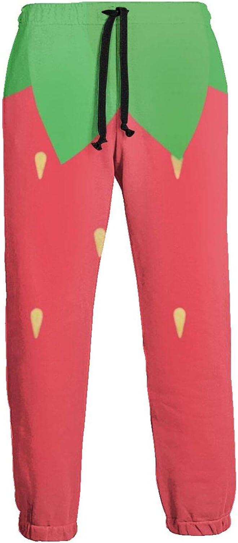 Ybrktl15- Mens Strawberry Over item handling ☆ 5% OFF Texture Jogger Bott Close Sweatpants