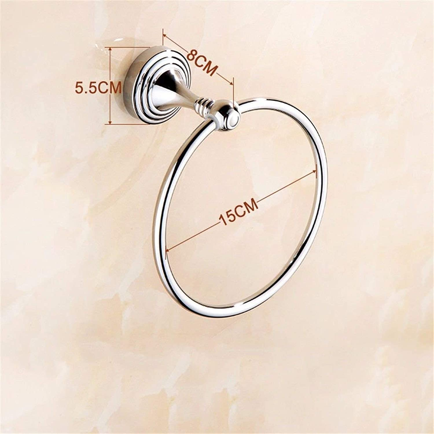 Towel Rack Brass Chrome Plated Wall Mounted Towel Rack Bathroom Accessory Bathroom Towel Shelf (color   Towel Ring)