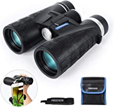 FREEDEER 10x42 Binoculars for Adults, Compact HD Low Light Night Vision Waterproof Professional Telescope for Bird Watching Hunting Stargazing Travel Concerts Sports, Smart Phone Mount Carrying Bag