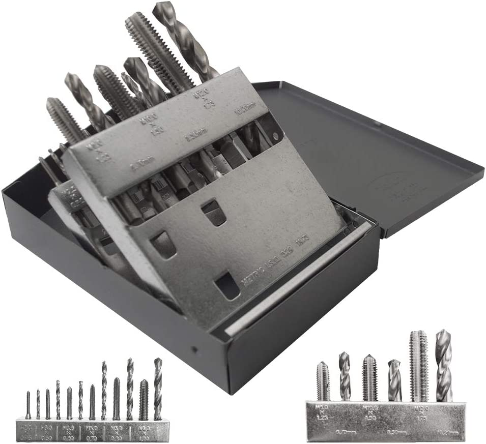 Popular Gyros 18 Piece Fees free!! Metric Tap and Drill Speed Set High Bit Steel -