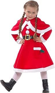 Morph Girls Mrs Claus Costume Santas Little Helper Kids Miss Christmas Dress Outfit – Small (Age 3-5)
