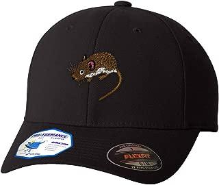 Custom Flexfit Baseball Cap Mouse B Embroidery Animal Name Polyester Hat Elastic