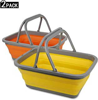 Tiawudi 2 Pack Collapsible Sink with 2.25 Gal / 8.5L Each...
