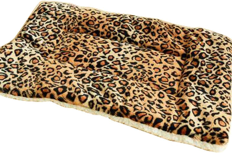 [Leopard] Soft Pet Beds Pet Mat Pet Crate Pads Cozy Beds For Dog Cat