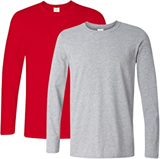 Ranberone Men's Casual Classic Fit Long Sleeve Solid Heavy Cotton T-Shirt| 1-2 Pack