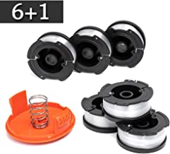 "FutureWay String Trimmer Replacement Spool Line 0.065"" GH900 LST201 Compatible with Black Decker AF-100, Weed Eater String Autofeed RC-100-P Cap, Cordless Trimmer Line 30ft, 6 Spool + 1 Cap + 1 Spring"