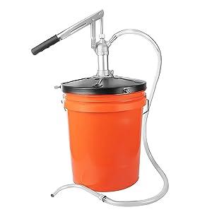 GROZ Heavy Duty Lever Action Bucket Pump   For 5 Gallon Pails   Pump Heavy Oils, Engine Oils and Transmission Fluid (44150)